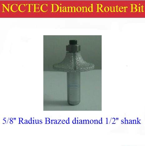 5/8'' R15 Radius Diamond Vacuum Brazing Brazed Router Bit With 1/2