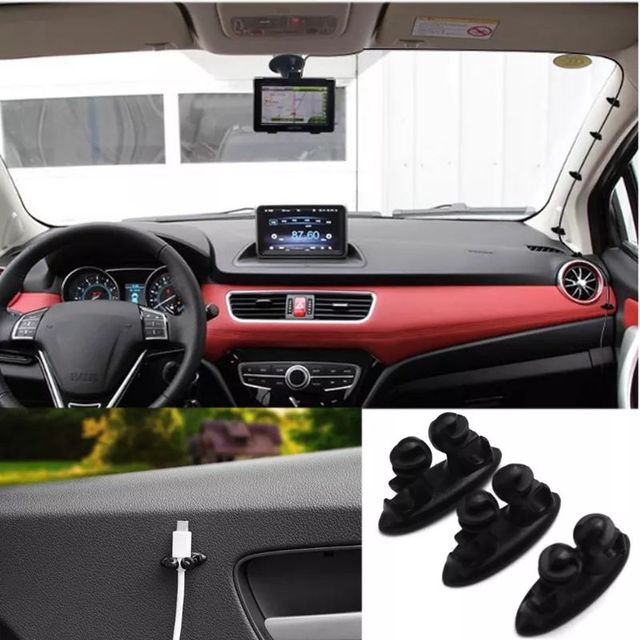 8Pcs Car Wire Clip Fixed Clamp Cable Multifunction Fastener Clip Holder Wireless Charger Line USB Cable Clip In Auto Accessories