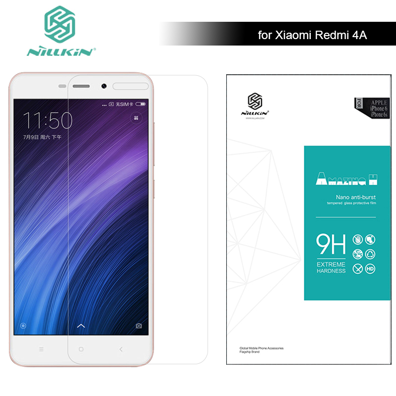 Pour Xiaomi Redmi 4A 5.0 Nillkin Protecteur D'écran En Verre Trempé 9 H Dur Anti-Scratch 0.33mm Super Mince Xiaomi Redmi 4A Verre