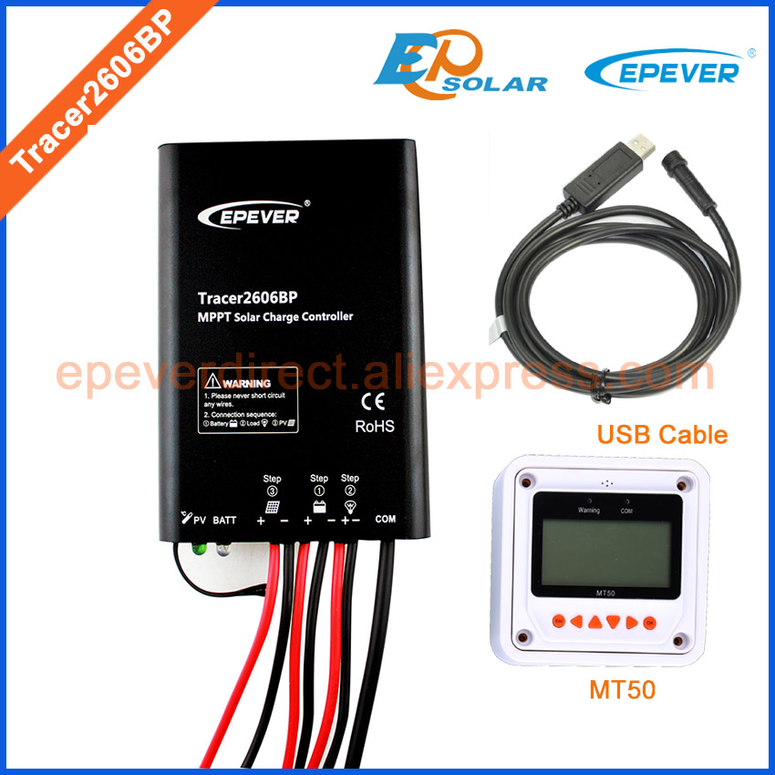MPPT Free shipping to USA/AU/France Tracer2606BP MT50 remote meter solar charger controller USB connect cable 10A 10amps 24VMPPT Free shipping to USA/AU/France Tracer2606BP MT50 remote meter solar charger controller USB connect cable 10A 10amps 24V