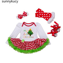 sunnykucy Spring New Girls  Dress Christmas Long-Sleeved High-Quality Cotton Jumpsuit Romper Princess Wholesale