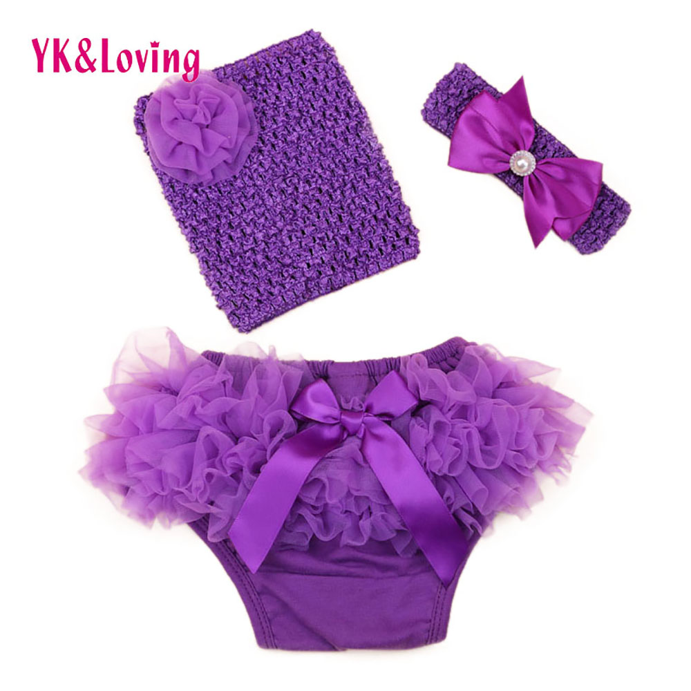 Fashion Baby Clothing set Newborn Bra Crochet Mesh Boob Tube top + Bloomers Children bloomer Shorts 3 Pcs Sets Infant Clothes