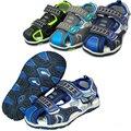 Бесплатная Доставка 1 пара ПУ летние Детские Сандалии Мальчик обувь + внутренние 16-19.5 см, мягкие подошва Обуви, малыш/Детская обувь