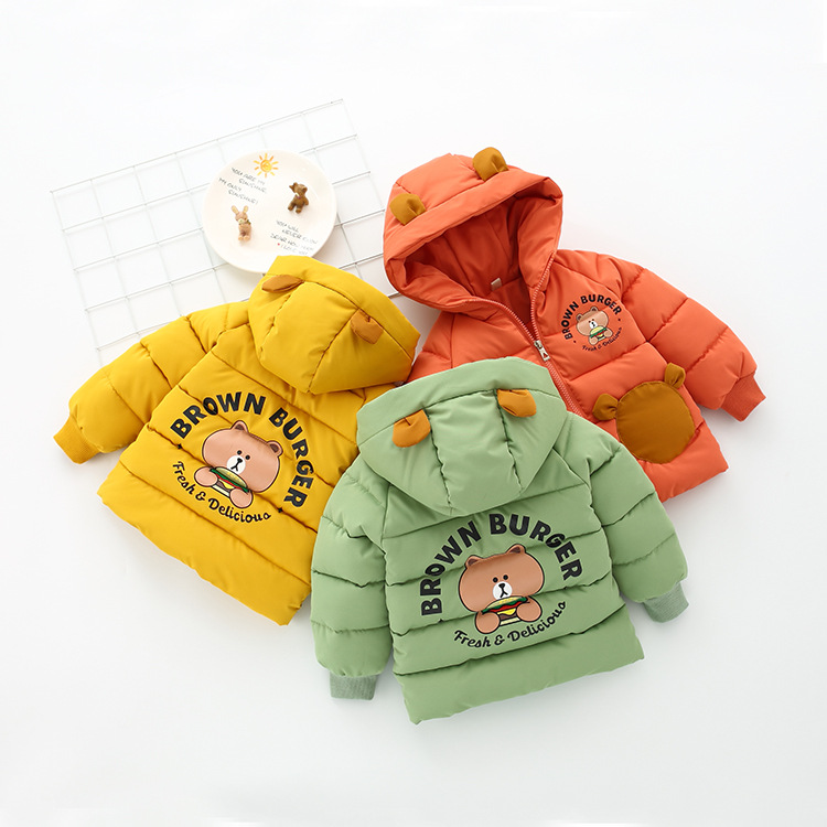 JIOROMY Winter new cartoon bear down the little boy boy in a cotton coat long thickening cotton-padded jacket undertakes to 594 цена
