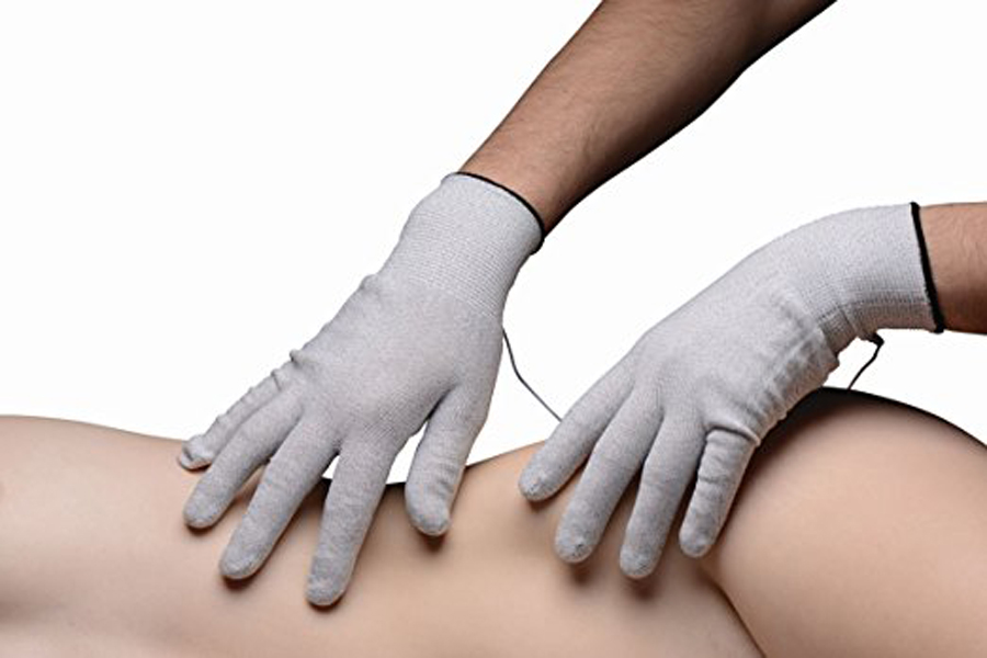 <font><b>Electro</b></font> Shock Electrode <font><b>Gloves</b></font>,P-Sopt Massage With Leads,<font><b>Electro</b></font> Stimulation,<font><b>Sex</b></font> Toys For Woman image