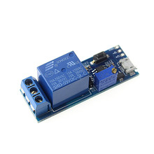 Smart Electronics 5V-30V Micro USB Power Adjustable Delay Relay Timer Control Module Trigger Delay Switch