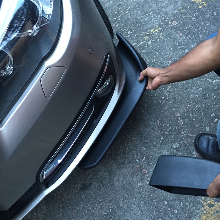 Universel voiture pare-chocs avant lèvre séparateur ailettes corps becquet Canards Valence menton pour BM Skoda VW Opel deux pcs (R + L)