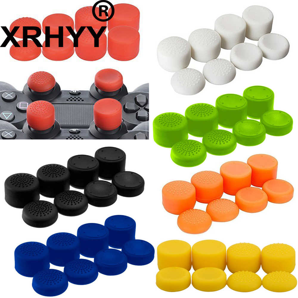 8 Pcs Antislip Thumb Stick Grips Thumbsticks Joystick Cap Cover untuk PS4 PS3 Switch Pro Xbox One Xbox 360 Wii U PS2 Controller