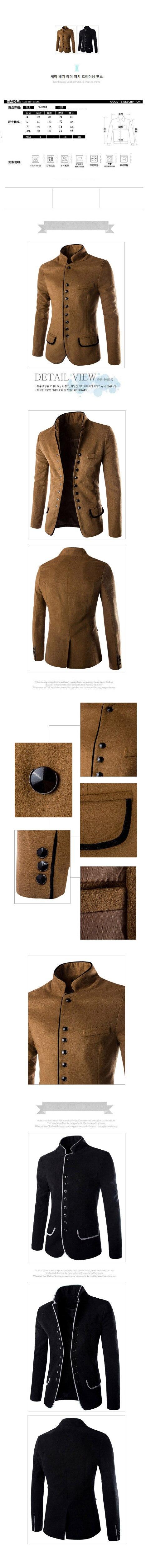HTB1lbH3OVXXXXbyXpXXq6xXFXXXO - Воротник-стойка человек шерстяной пиджак Однотонная повседневная обувь осень-зима пальто Модная верхняя одежда Для мужчин Блейзер Бизнес комплект для досуга