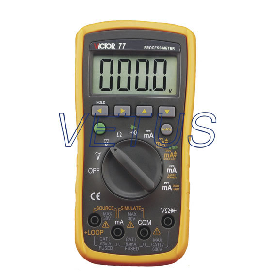 VICTOR 77 Digital Process Multimeter VC77 victor dm6235p digital tachometer