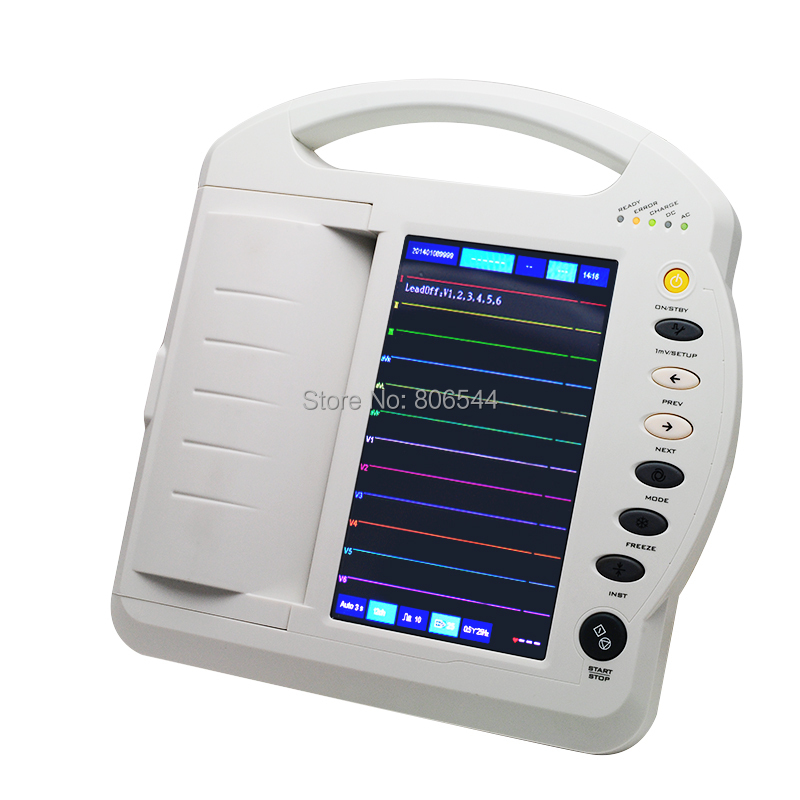 Health Monitors Care LCD Portable Digital 12-channel Electrocardiograph ECG Machine EKG Machine EKG-1212A High Quality AAA health care ce easy handheld ecg ekg portable mini pc 80b lcd heart ekg monitor continuous measuring function usb