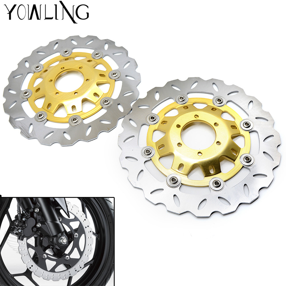 Motorcycle CNC Front Floating Brake Disc Rotor For Honda CB400 1992 1993 1994 1995 1996 1997 1998 VTEC400 1999-2010 CBR250 motorcycle front brake disc rotor for nv400 nv 400 1992 93 94 95 96 97 vt600 vt 600 1993 1994 1995 1996 1997 1998 1999 2000