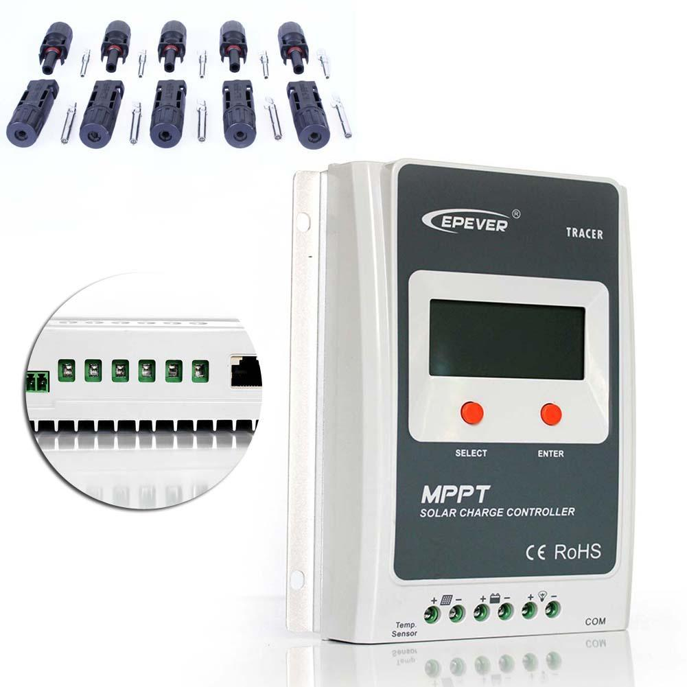 MTTP 20A Solar Charge Controller 12V 24V LCD Display Auto Solar Panel Charger Regulator 5 Pairs