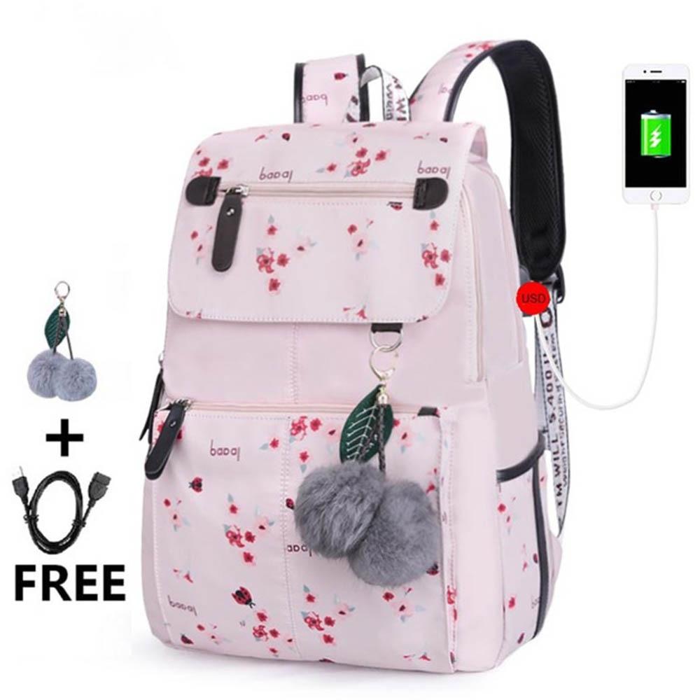 New Floral Printing Kids School Backpack Waterproof Nylon Children School Bags For Girls Student Girl Schoolbag Backpack