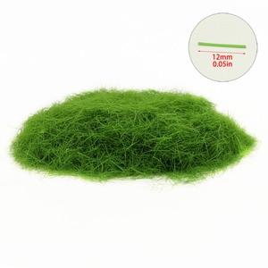 Image 3 - 4 בקבוקי 35g 12mm סטטי דשא אבקת מעורב צבעים ירוק דשא אבקת צאן דשא מחצלת דגם רכבת פריסה CFA4