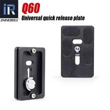 Q60 uniwersalna płyta szybkiego uwalniania dla panoramiczny statyw głowica kulowa kompatybilny z arca swiss spec. QR akcesoria do lustrzanek cyfrowych
