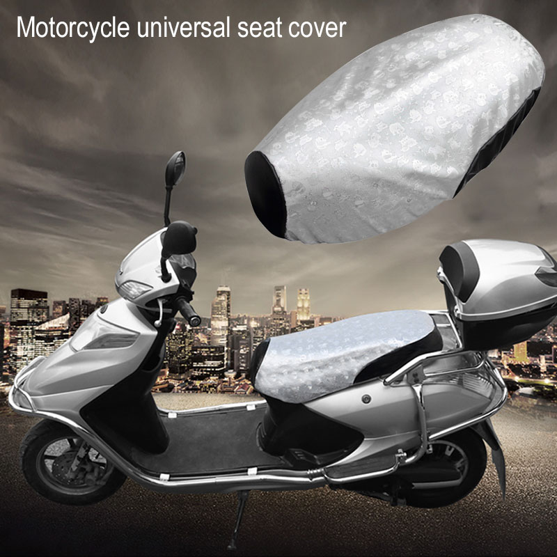 L Silver Pads Motorcycle Seat Cover Durable Waterproof Sun Protection E-Bike(China)