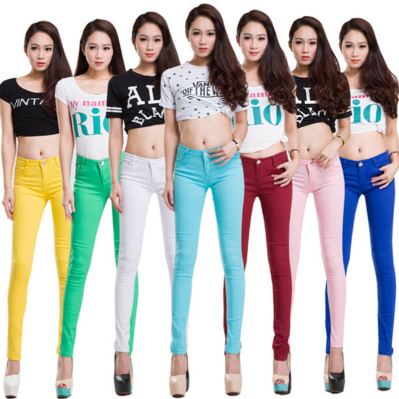 20 Colors Plus Size 2017 New Sexy Women Pants Spring Summer Casual Jeans Pencil Pants Lady
