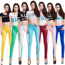 20 Colors Plus Size 2017 New Sexy Women Pants Spring Summer Casual Jeans Pencil Pants Lady Skinny Sexy Long Trousers Candy color