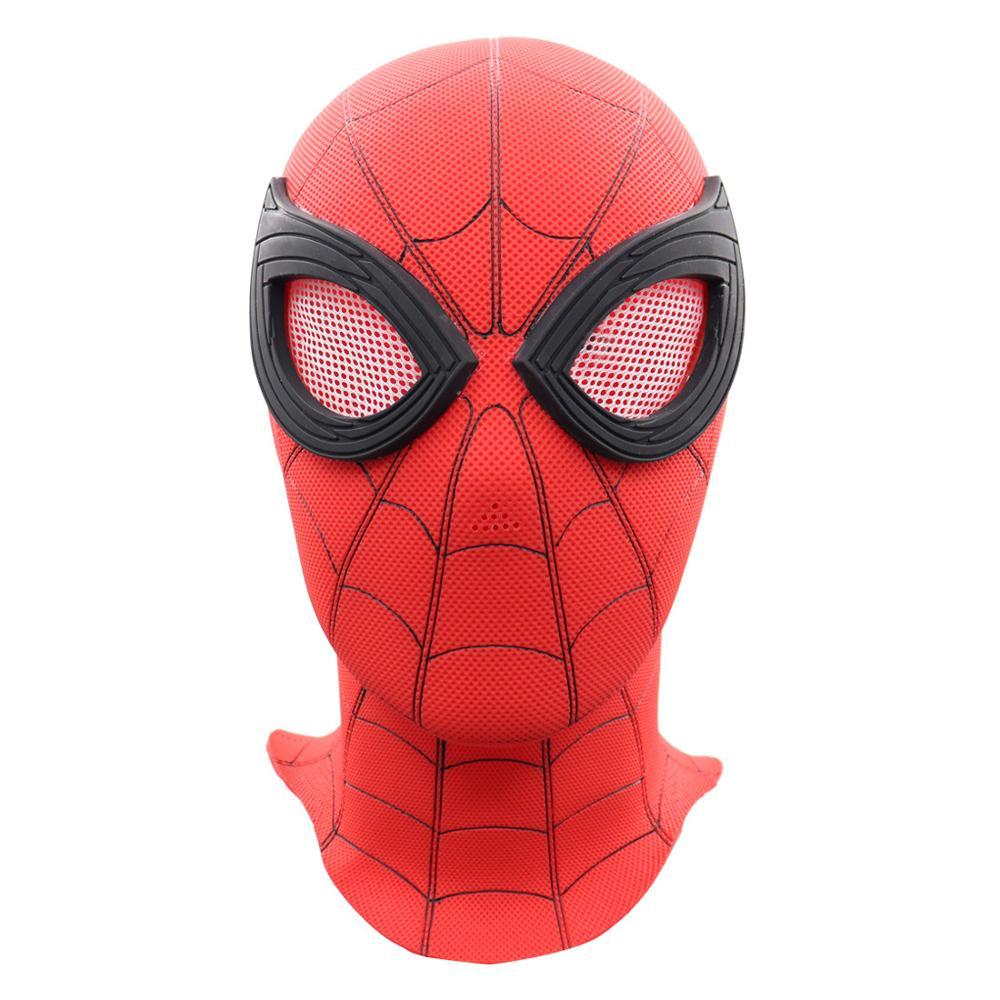 Spider-Man Homecoming Cosplay Costume PVC Lenses Spandex Lycra Mask for Men