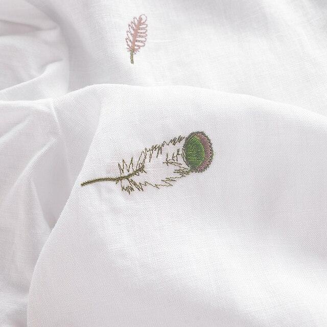 2017 Chinese trend leaf embroidery linen men t-shirt round neck t shirt men cotton casual short sleeve summer men tshirt camisa 6