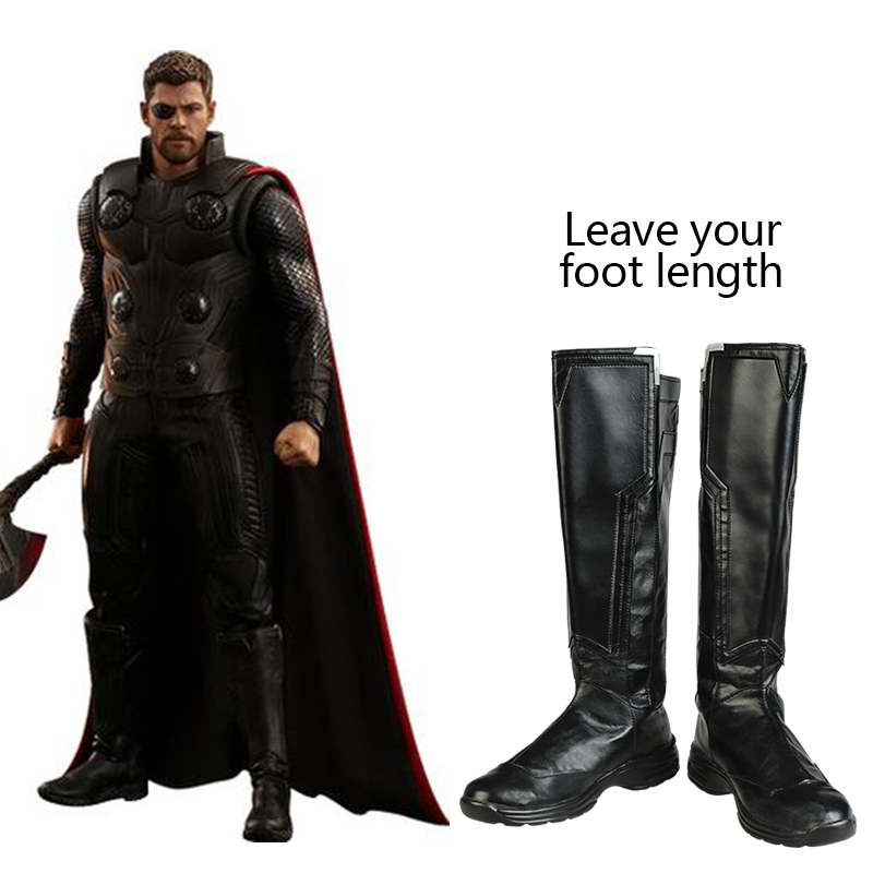Avengers Infinity War Thor Cosplay Shoes Boots Halloween Carnival Accessories Professional Handmade Props Adult Men Custom