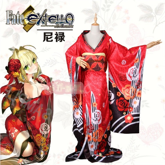 Fate/extra Nero Red Saber Cosplay Costume Christmas Hallowee Costume+ Headwear+Free Shipping & Fate/extra Nero Red Saber Cosplay Costume Christmas Hallowee Costume ...