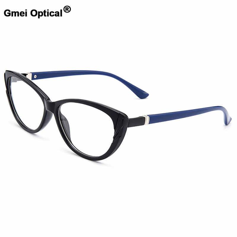 Gmei Optik Modis Urltra-Light TR90 Wanita Oval Penuh Rim Optik Kacamata Bingkai Plastik Wanita Miopia Kacamata M1606