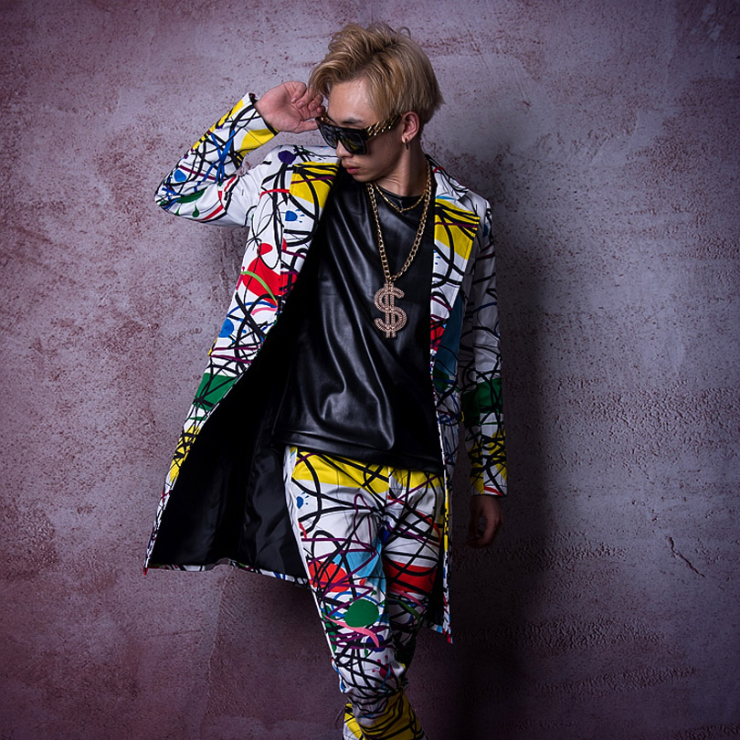 Men's Clothing Generous Custom Stage Costume Singer Dancer Dj Clothes Men Fashion Hip Hop Long Casual Blazer Suit Jacket Male Overcoat