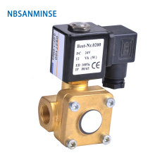 NBSANMINSE 1-1/4 1-1/2 2 Pilot operated Diaphragm two way brass solenoid valve 0927 0955 NC NO Brass Valve цена