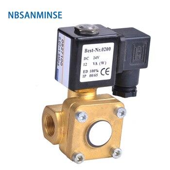 NBSANMINSE 1-1/4 1-1/2 2 Pilot operated Diaphragm two way brass solenoid valve 0927 0955 NC NO Brass Valve AC220V,DC24V,DC12V 5 way pilot solenoid valve sy3220 3d 03