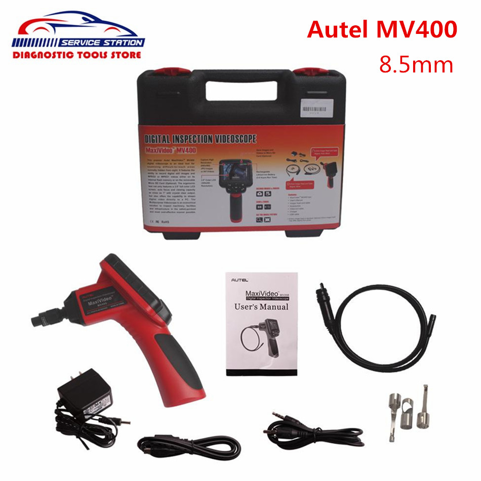 Free DHL! Autel MV400 8.5mm Digital Inspection Videoscope MaxiVideo MV400 with Original Top Quality  цены