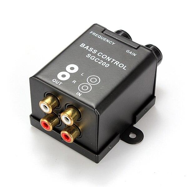 ÚJ Autóház univerzális távirányító erősítő Bass vezérlő RCA erősítő hangerő szabályozó gomb