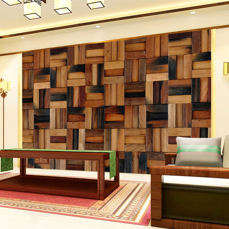 European Style Classical Wood Grain 3D Wall Murals Wallpaper For Living Room Sofa TV Background Paper Wallpaper Home Decor vintage european classical tv background wood pulp paper pvc wallpaper wall stickers waterproof home decoration fashion feast