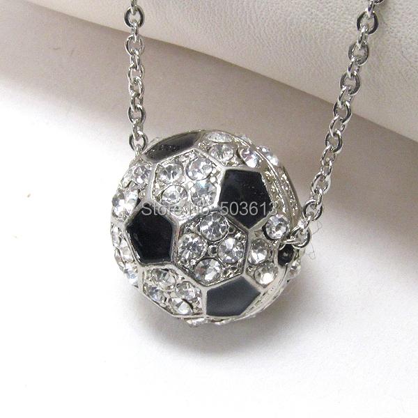Football Alloy Pendant Necklace