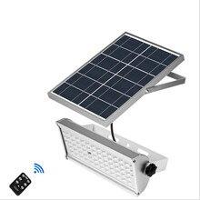 Recentes 65 leds de Energia Solar Luz de Inundação Com Sensor de Movimento Radar De Microondas Lâmpada Luzes De Jardim Ao Ar Livre À Prova D' Água de Wall Street