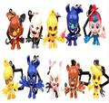 10pcs/set Five Nights At Freddy's FNAF PVC Action Figure Keychains Gold Freddy Fazbear Bonnie Chica Foxy Pendant Kids Toys Gift
