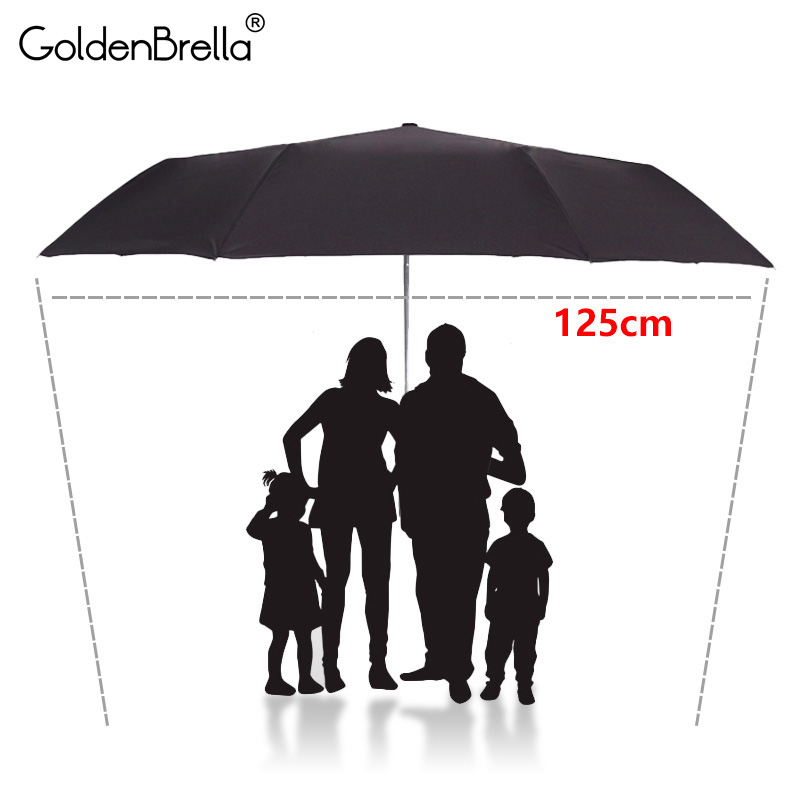Large 125cm Men <font><b>Umbrella</b></font> High Quality Strong Wind Resistance Automatic Folding <font><b>Umbrella</b></font> For Man <font><b>Big</b></font> <font><b>Golf</b></font> Outdoor Women <font><b>Umbrella</b></font> image