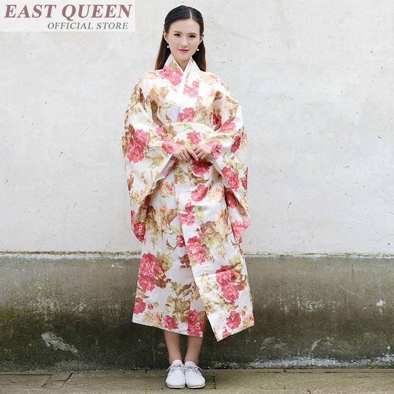 Традиционное японское кимоно платье косплей Женский юката женский haori японский костюм гейши obi kimonos женщина 2018 FF558 A
