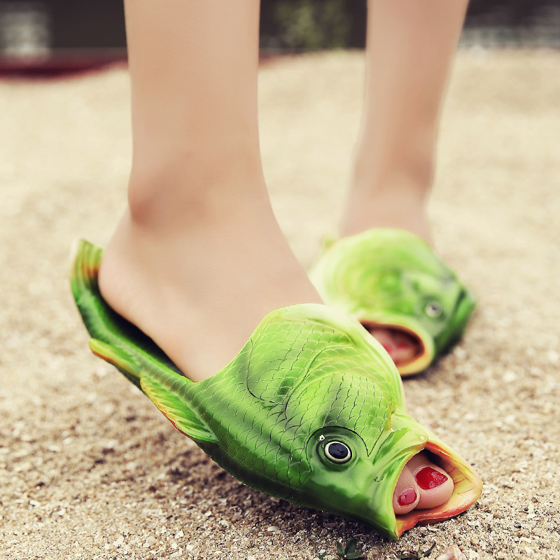 Fish-Shaped Slippers Soft Lightweight Summer Beach Sandals Flop Shoes Open Toe