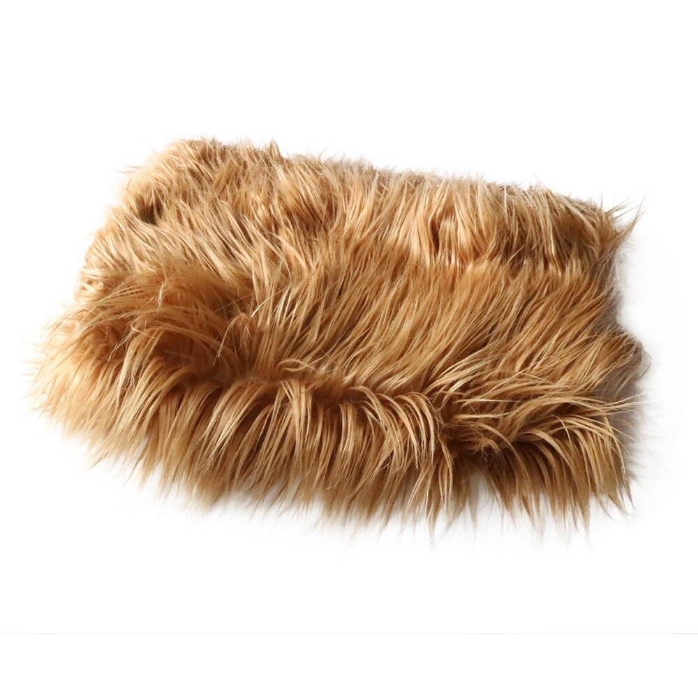New Arrival Acrylic 75x50cm newborn size faux fur basket stuffer newborn photography props blanket