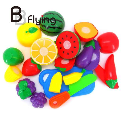 цены  Kids Baby Pretend Role Play Kitchen Cooking Fruit Vegetable Child Development Toys Cutting Gift NEW