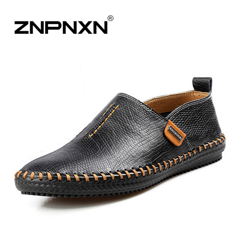 2016 New Mens Shoes Casual Handmade Slip On Flats Shoes ...