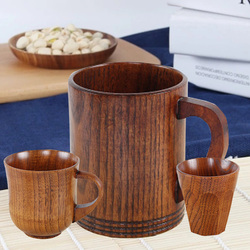 1 szt. Japońskie drewniane kubki z litego drewna mleko kreatywny kubek izolowany napój łatwo filiżanka kawy