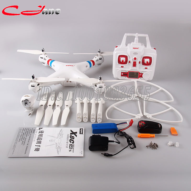 Syma X8C Upgrade FPV Drone with 2MP Wide Angle Camera 2.4G 6Axis RTF dron RC Quadcopter Helicopter Fit SJ6000 Camera VS X8G