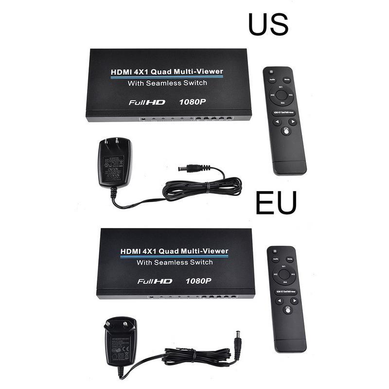 HDMI 4x1 Quad Multi-viewer Con PIP Supporto Senza Soluzione di Continuità Interruttore HD Video Splitter Compatibile Con HDMI 1.3a HDCP 1.2 3D 1080 p 60 hz