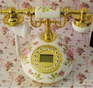Ceramic antique  dial telephone