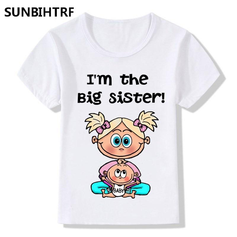 "Big Sister T-Shirt /""I/'m the Big Sister/"" Baby Tee Girl Gift Clothes"