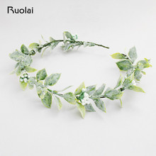 Bohemia Wedding Headbands Flower Hair Comb Green Leaves Wedding Accessories Bridal Headpieces Hair Decoration HD4 цена в Москве и Питере