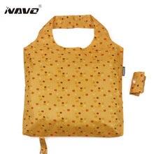 Navo eco beutel größe mode folding shoping taschen umweltfreundliche faltbare mehrfachverwendbare licht gewicht shopping einkaufstüten sac cabas